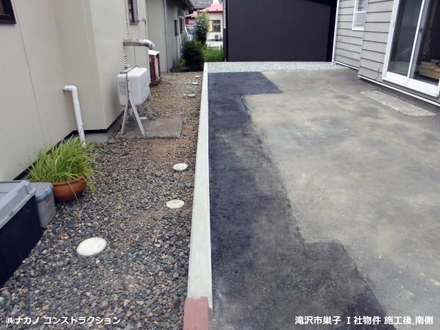 滝沢市巣子 Ⅰ社物件 施工後南側