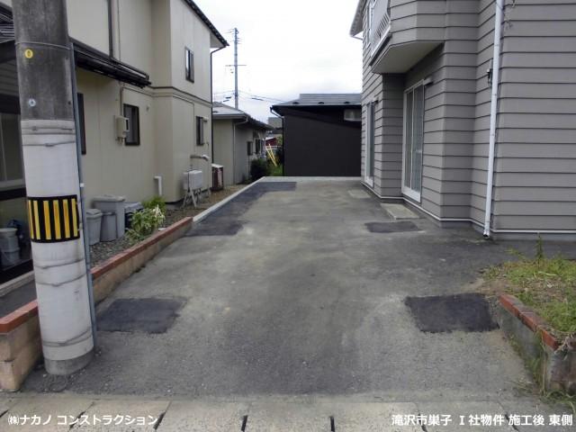 滝沢市巣子 Ⅰ社物件 施工後東側